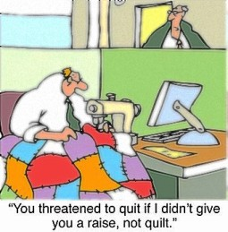 Quilting cartoon